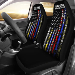 No One Fights Alone Car Seat Cover