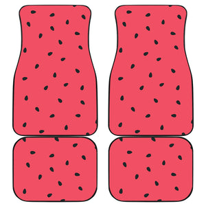 watermelon texture background Front and Back Car Mats
