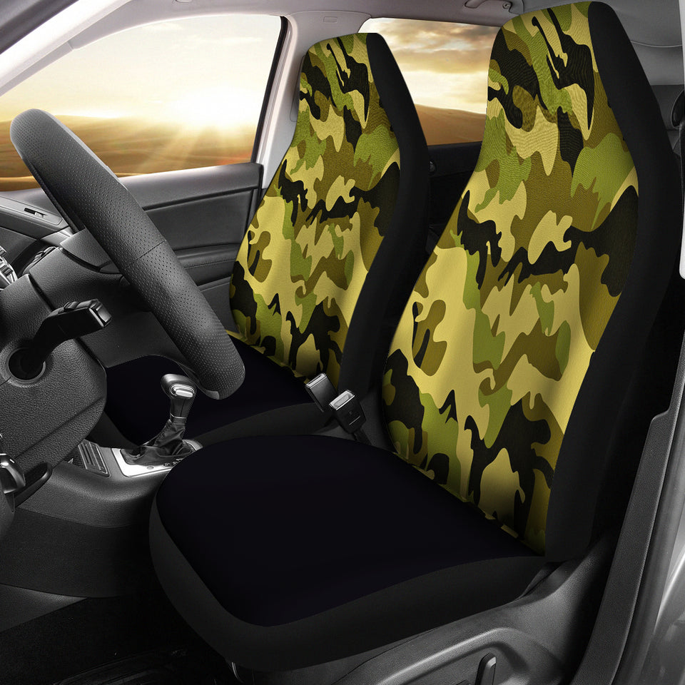 Green Camouflage Car Seat Covers