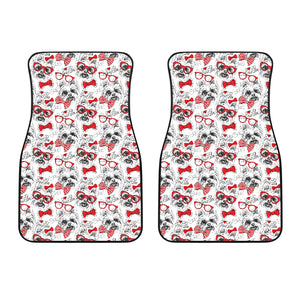 Yorkshire Terrier Pattern Print Design 04 Front Car Mats