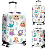 Cute Owl Pattern Luggage Covers