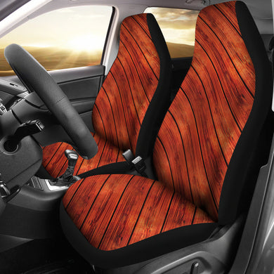 Wood Printed Pattern Print Design 03 Universal Fit Car Seat Covers