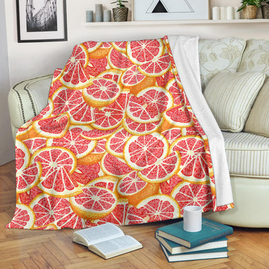 Tropical grapefruit pattern Premium Blanket
