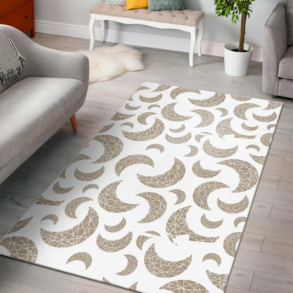 Cool Gold Moon Abstract Pattern Area Rug
