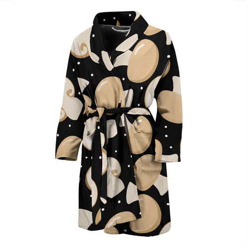Champignon mushroom pattern Men's Bathrobe