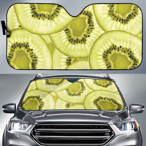 Sliced kiwi pattern Car Sun Shade