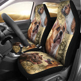 Staffordshire Bull Terrier Car Seat Covers (Set Of 2)
