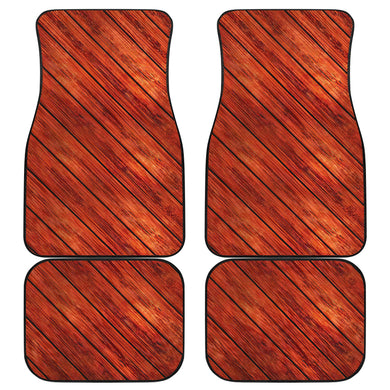 Wood Printed Pattern Print Design 03 Front and Back Car Mats