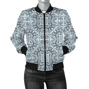 Traditional Indian Elewomen'St Pattern Women'S Bomber Jacket