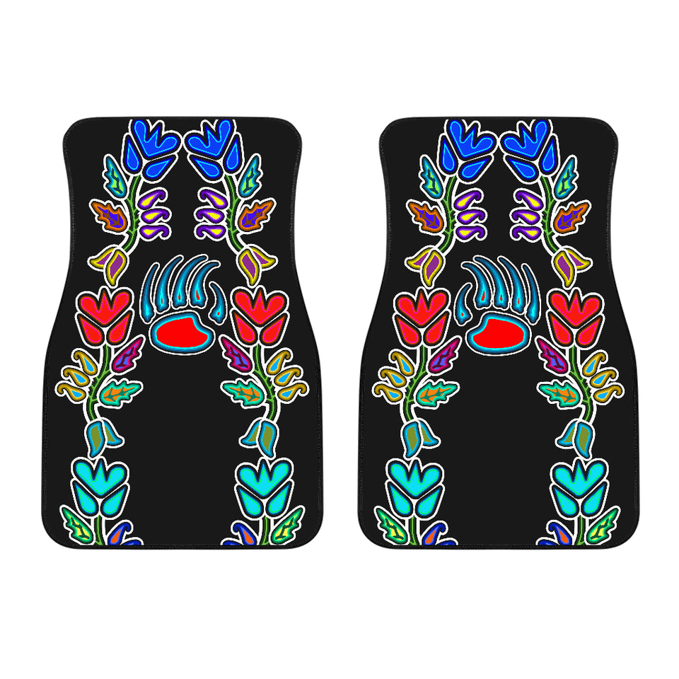 Generations Floral With Bearpaw Front Car Mats (Set Of 2)