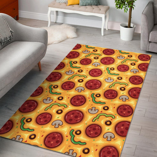 Pizza texture pattern Area Rug