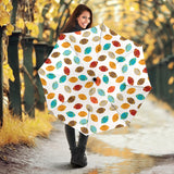 Colorful american football ball pattern Umbrella
