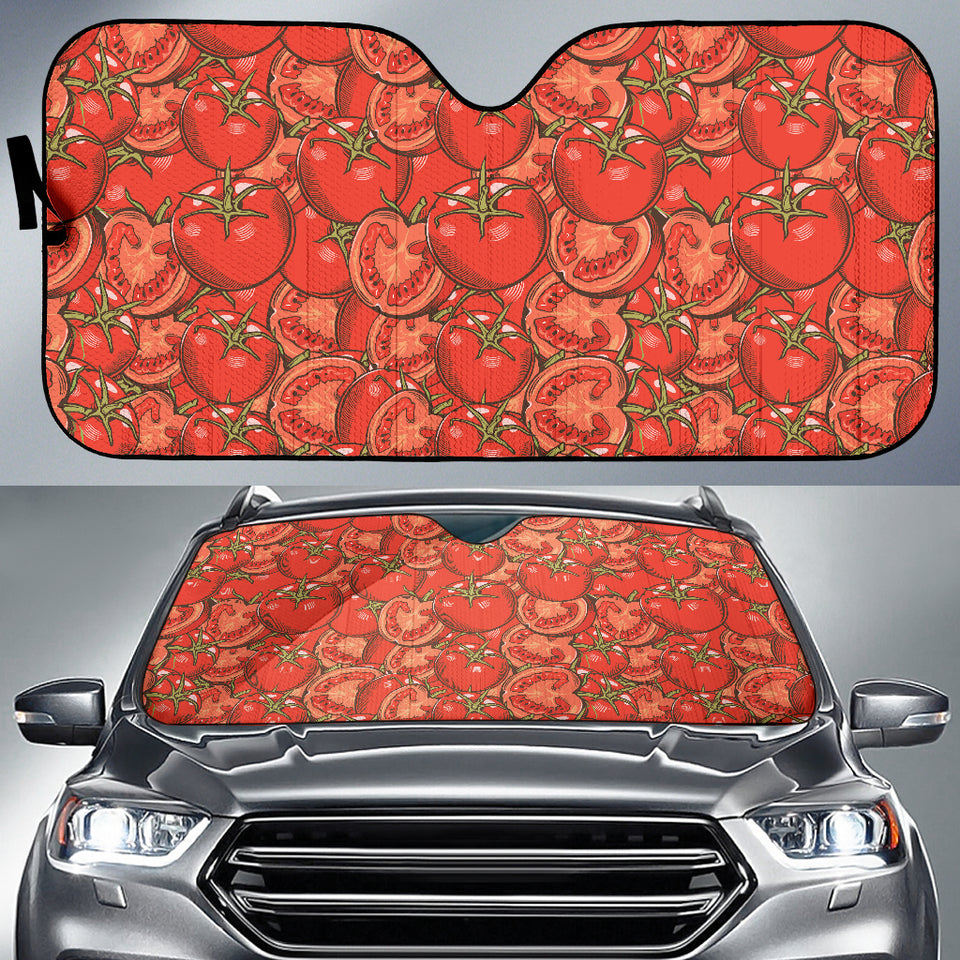 Red Tomato Pattern Car Sun Shade