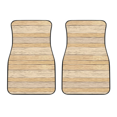 Wood Printed Pattern Print Design 01 Front Car Mats