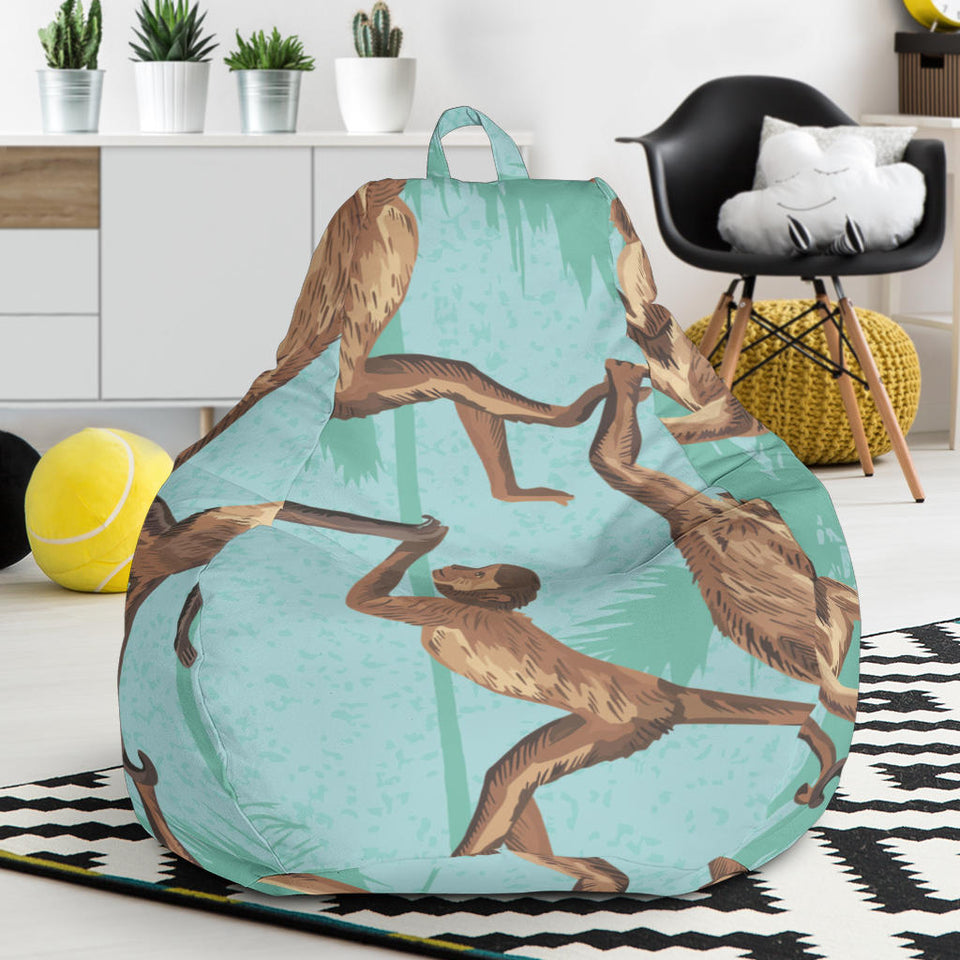 Monkey Palm tree background Bean Bag Chair