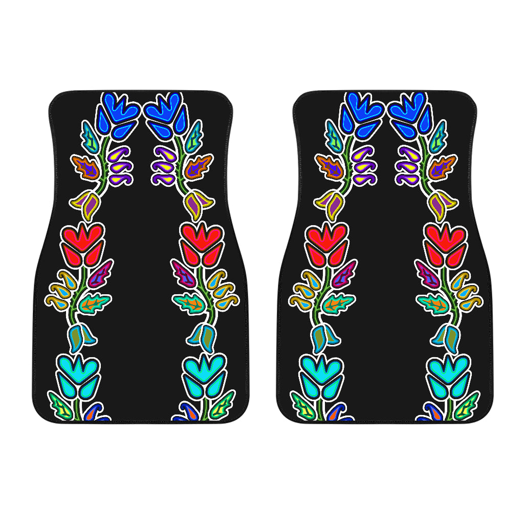 Four Directions Floral Front Car Mats (Set Of 2)