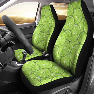 Slices of Lime pattern Universal Fit Car Seat Covers