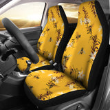 Bee flower pattern  Universal Fit Car Seat Covers