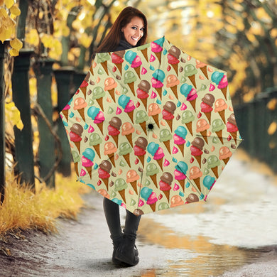 Colorful ice cream pattern Umbrella
