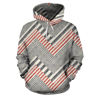 Zigzag Chevron Striped Pattern Men Women Pullover Hoodie
