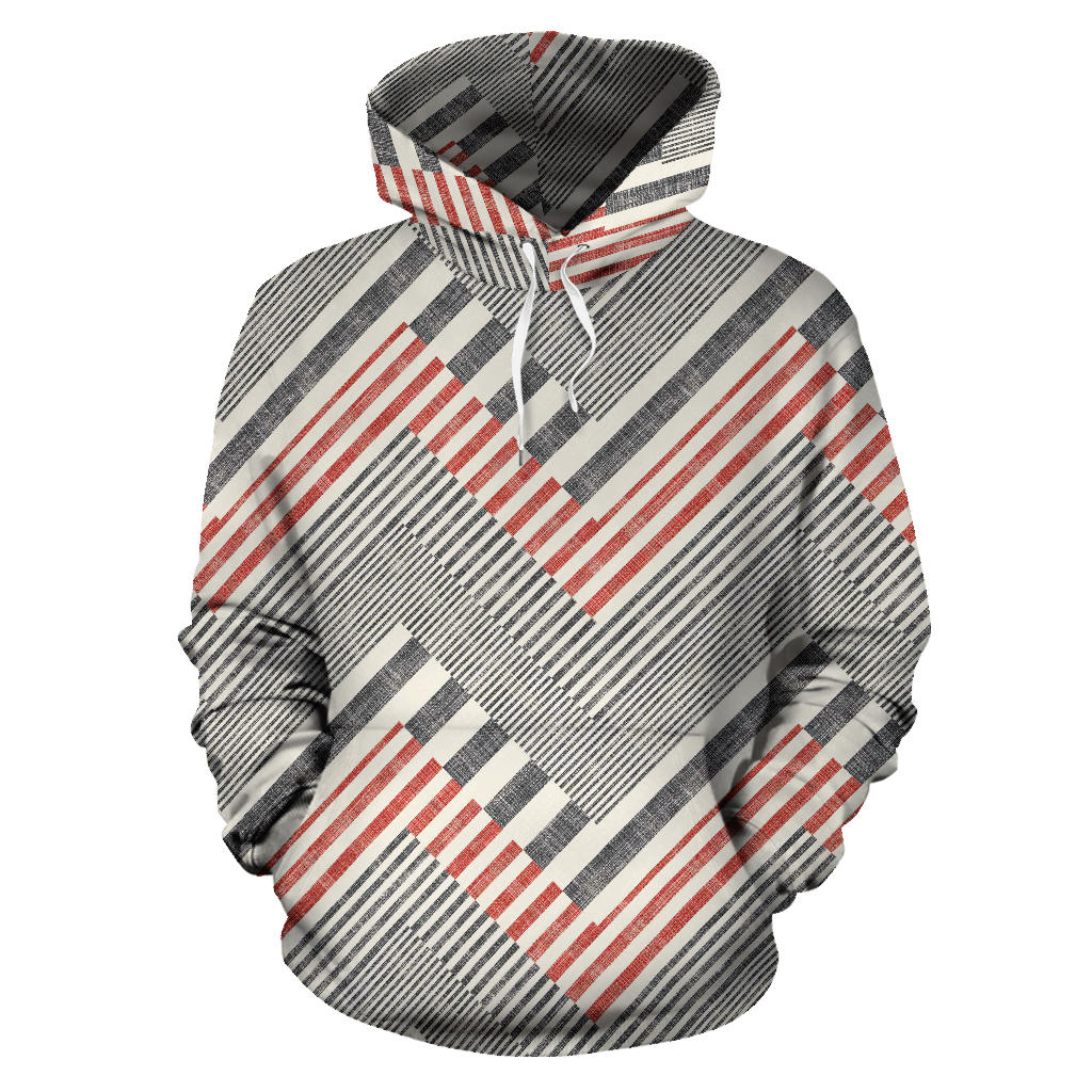 zigzag chevron striped pattern Pullover Hoodie