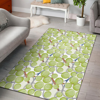Tennis Pattern Print Design 01 Area Rug