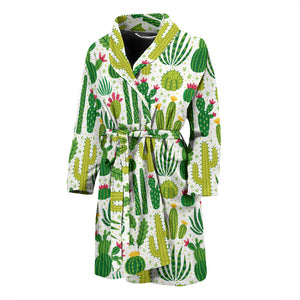 Cactus Pattern Men'S Bathrobe