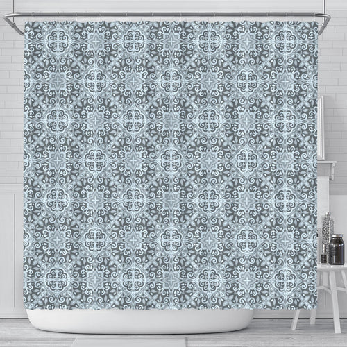 Traditional Indian Element Pattern Shower Curtain Fulfilled In US