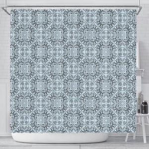 Traditional indian element pattern Shower Curtain