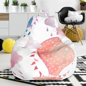Watercolor air balloon cloud pattern Bean Bag Chair