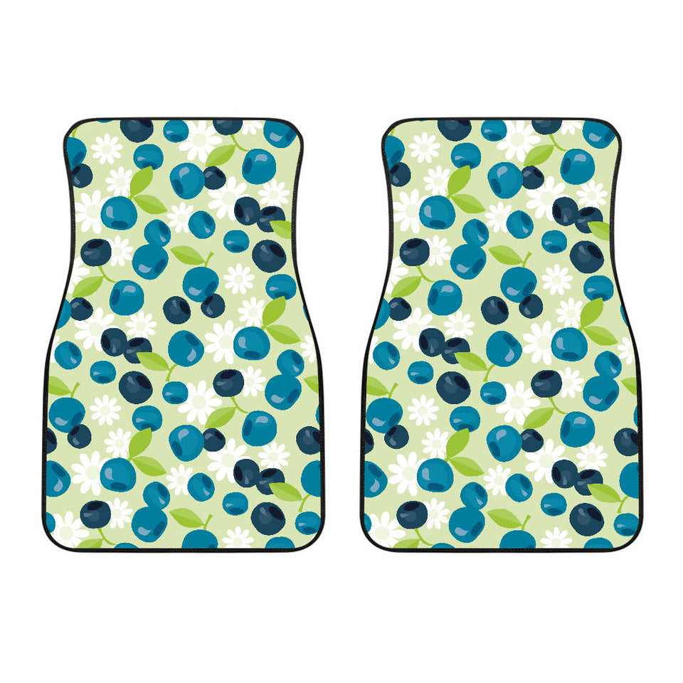 Blueberry Flower Pattern  Front Car Mats