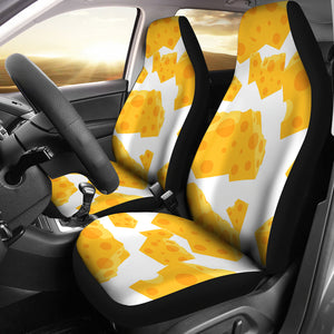 Cheese Slice Pattern  Universal Fit Car Seat Covers