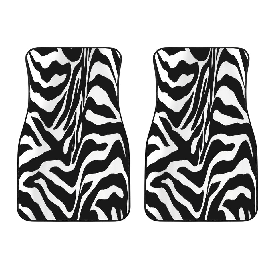 Zebra Print Custom Front Car Mats (Set Of 2)