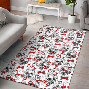 Yorkshire Terrier Pattern Print Design 04 Area Rug