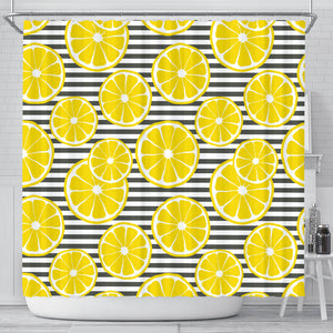slice of lemon design pattern Shower Curtain