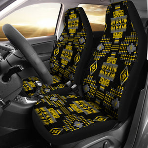 Seven Tribes Yellow Ocre Car Seat Covers