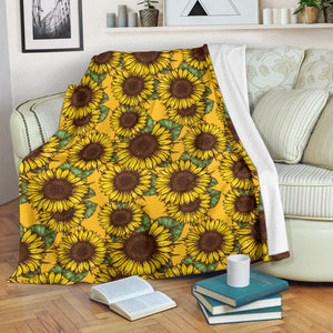 Sunflower Pattern Premium Blanket