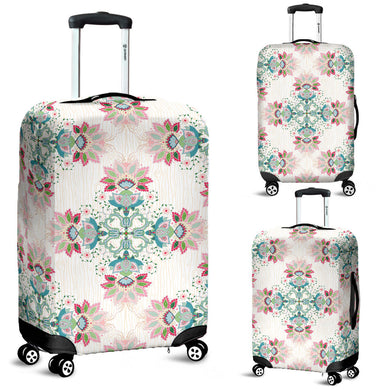 Square floral indian flower pattern Luggage Covers