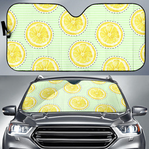 slice of lemon pattern Car Sun Shade