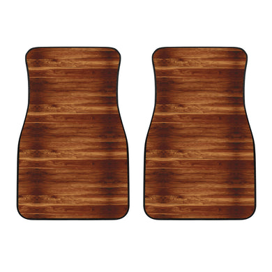 Wood Printed Pattern Print Design 04 Front Car Mats