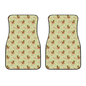 Yorkshire Terrier Pattern Print Design 01 Front Car Mats