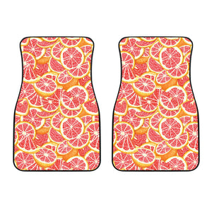 Tropical grapefruit pattern Front Car Mats