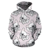 Cute french bulldog pattern Pullover Hoodie