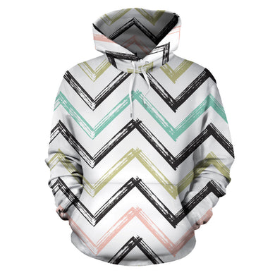 zigzag  chevron paint pattern Men Women Pullover Hoodie