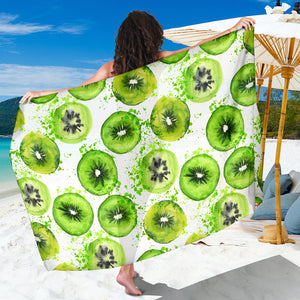 Watercolor kiwi pattern Sarong