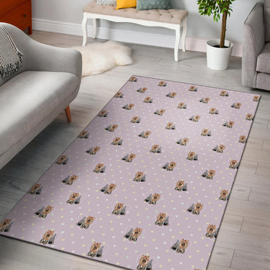 Yorkshire Terrier Pattern Print Design 02 Area Rug