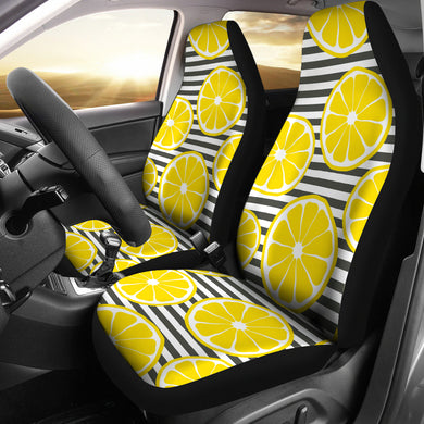 slice of lemon design pattern Universal Fit Car Seat Covers