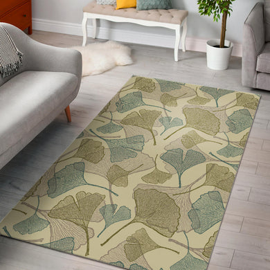 Ginkgo leaves design pattern Area Rug