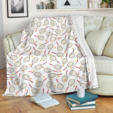 Tennis Pattern Print Design 04 Premium Blanket