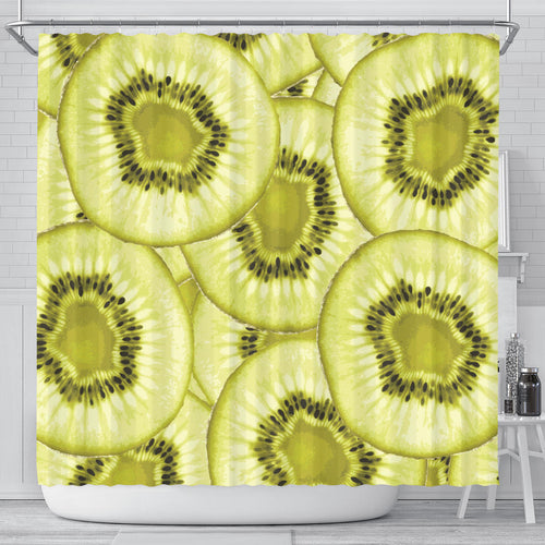 Sliced Kiwi Pattern Shower Curtain Fulfilled In US